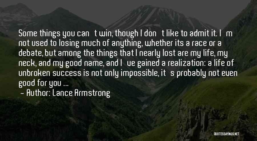 Race To Win Quotes By Lance Armstrong
