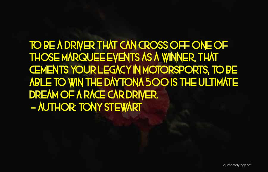 Race To Win Quotes By Tony Stewart