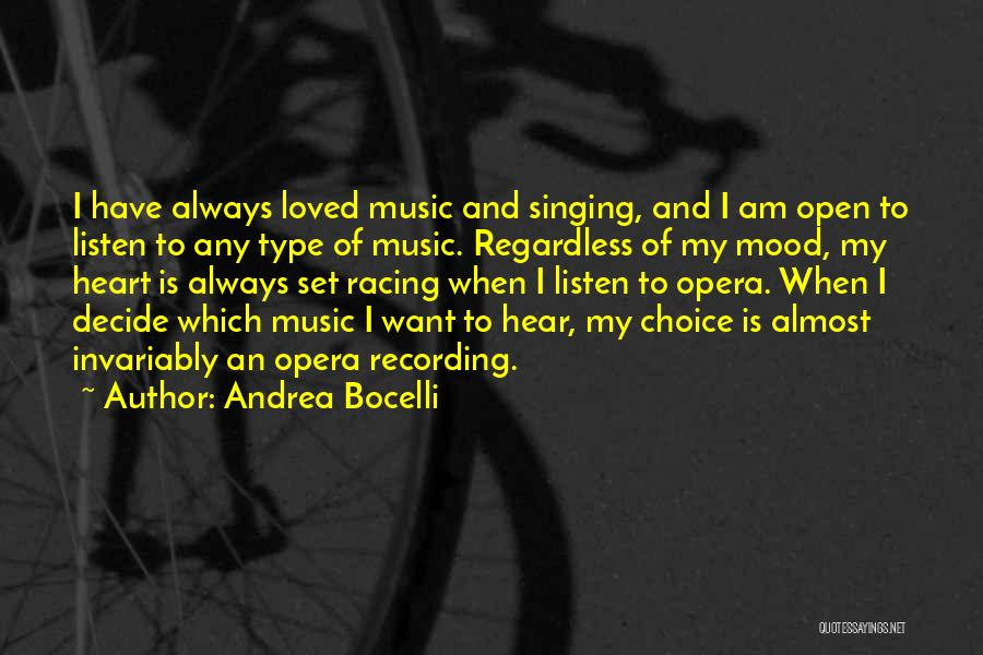 Racing Quotes By Andrea Bocelli