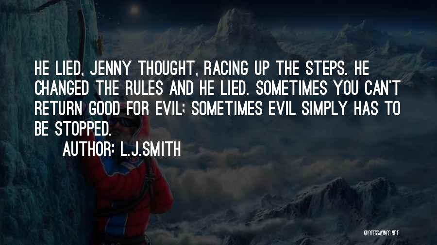 Racing Quotes By L.J.Smith