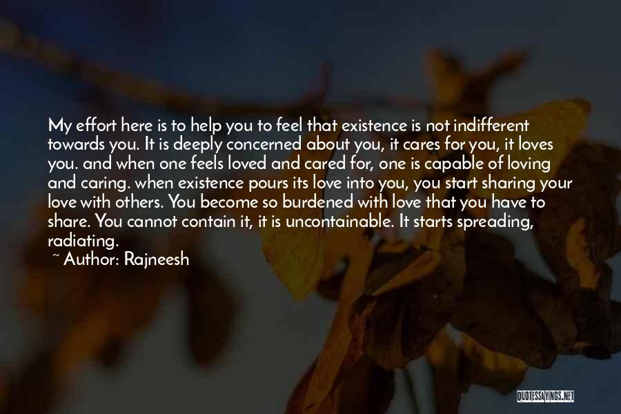 Radiating Love Quotes By Rajneesh