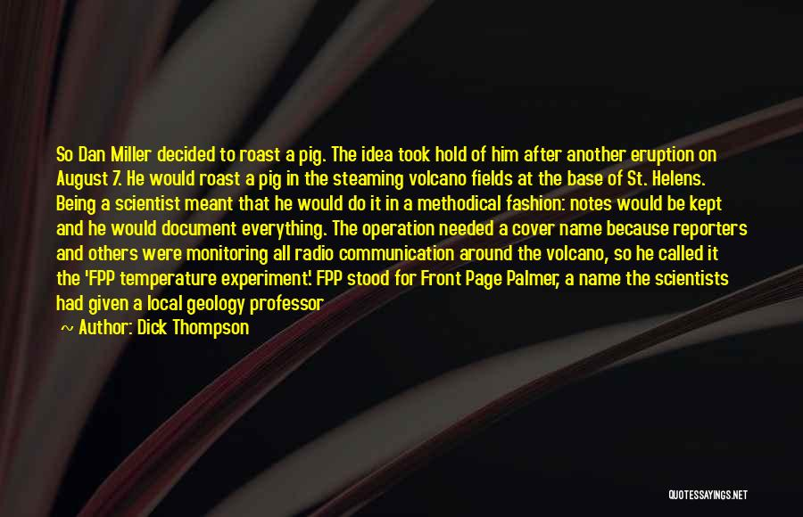 Radio Communication Quotes By Dick Thompson