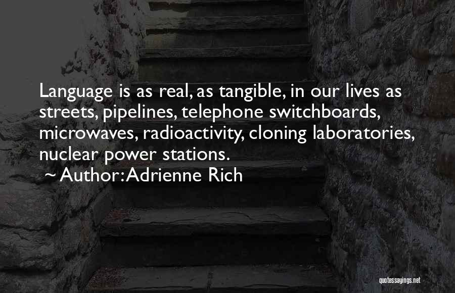 Radioactivity Quotes By Adrienne Rich