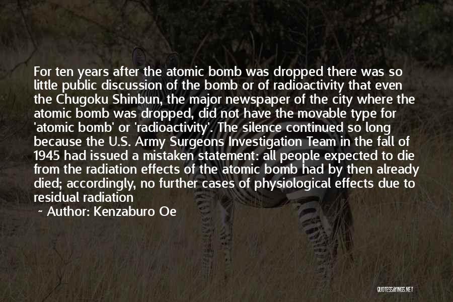Radioactivity Quotes By Kenzaburo Oe