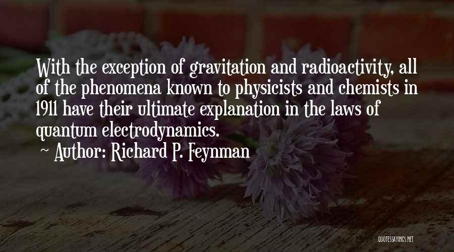 Radioactivity Quotes By Richard P. Feynman