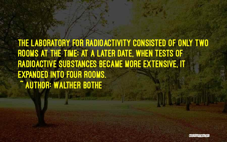 Radioactivity Quotes By Walther Bothe