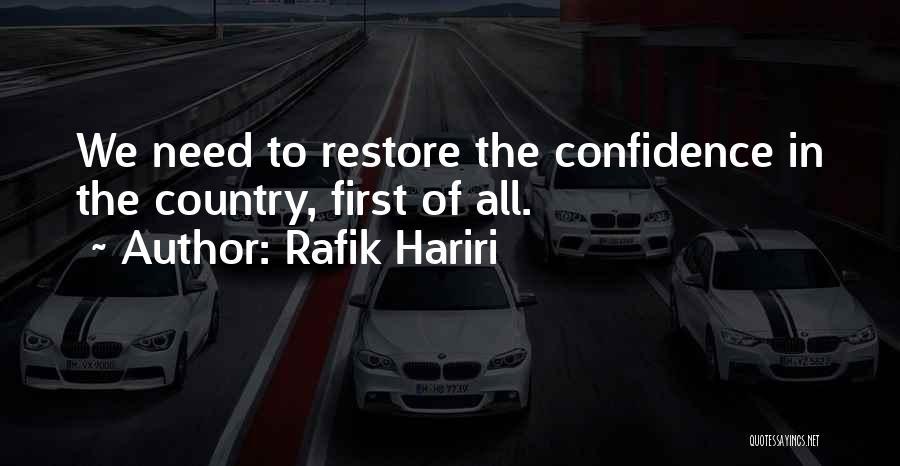 Rafik Hariri Quotes 1706393