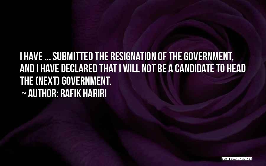 Rafik Hariri Quotes 1812381