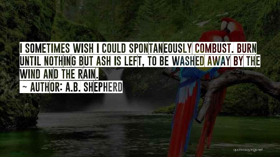 Rain And Sadness Quotes By A.B. Shepherd