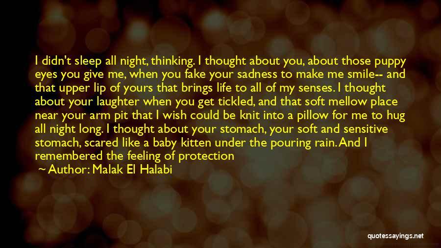 Rain And Sadness Quotes By Malak El Halabi