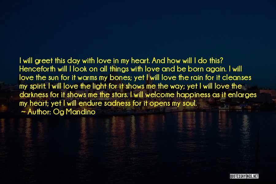 Rain And Sadness Quotes By Og Mandino