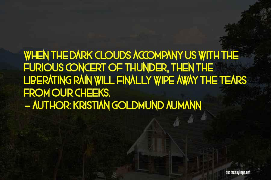 Rain And Thunderstorm Quotes By Kristian Goldmund Aumann