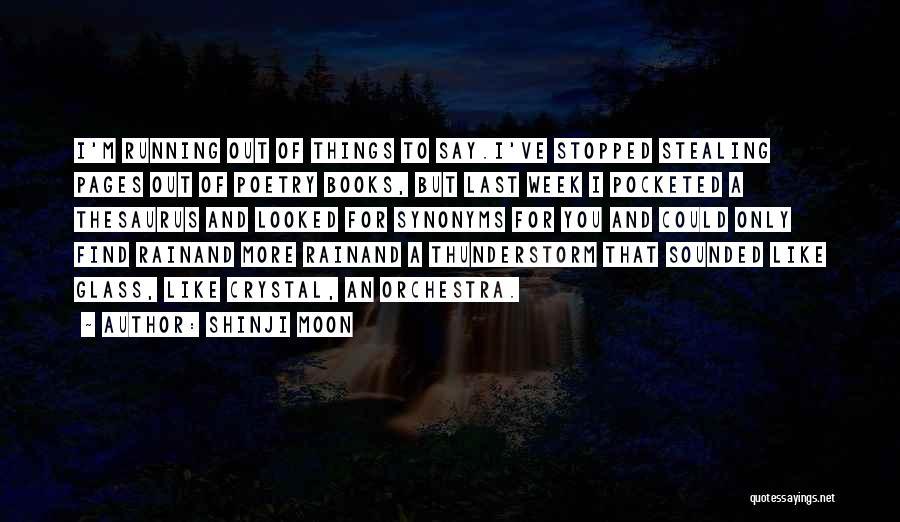Rain And Thunderstorm Quotes By Shinji Moon