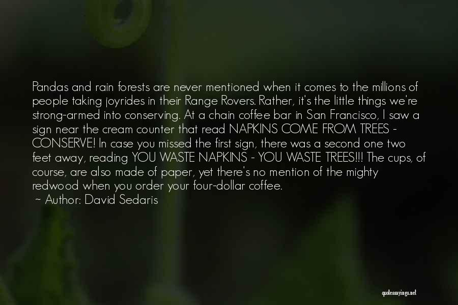 Rain And Trees Quotes By David Sedaris