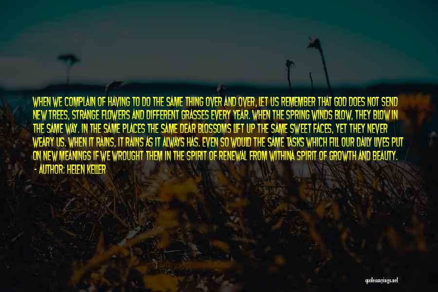 Rain And Trees Quotes By Helen Keller