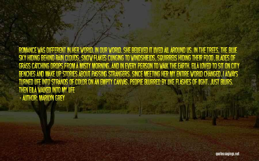 Rain And Trees Quotes By Marilyn Grey