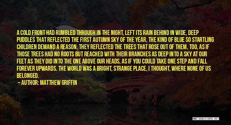 Rain And Trees Quotes By Matthew Griffin