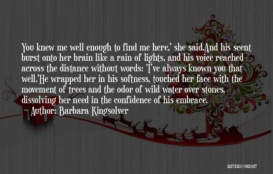 Rain In The Face Quotes By Barbara Kingsolver