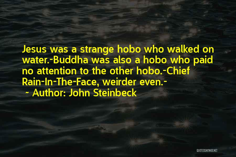 Rain In The Face Quotes By John Steinbeck