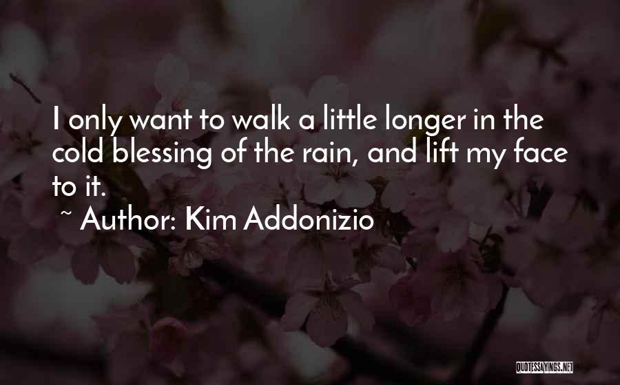 Rain In The Face Quotes By Kim Addonizio