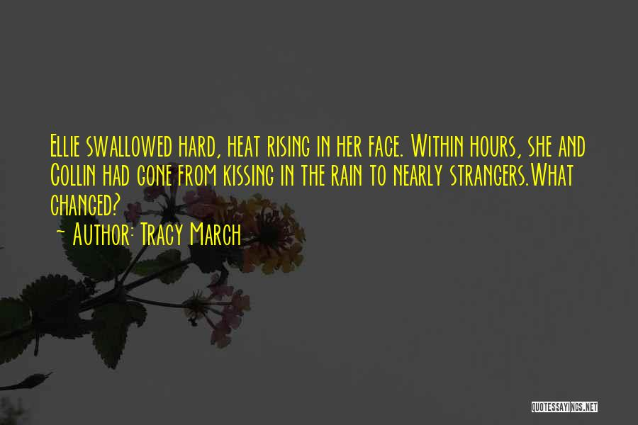 Rain In The Face Quotes By Tracy March
