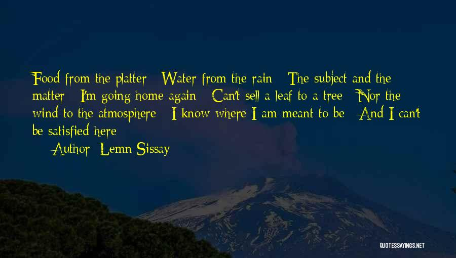 Rain Tree Quotes By Lemn Sissay