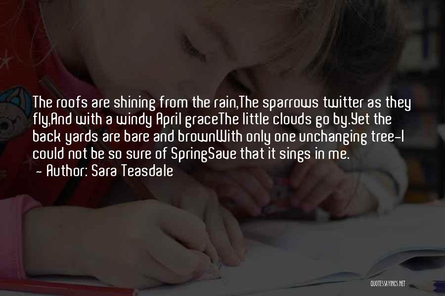 Rain Tree Quotes By Sara Teasdale