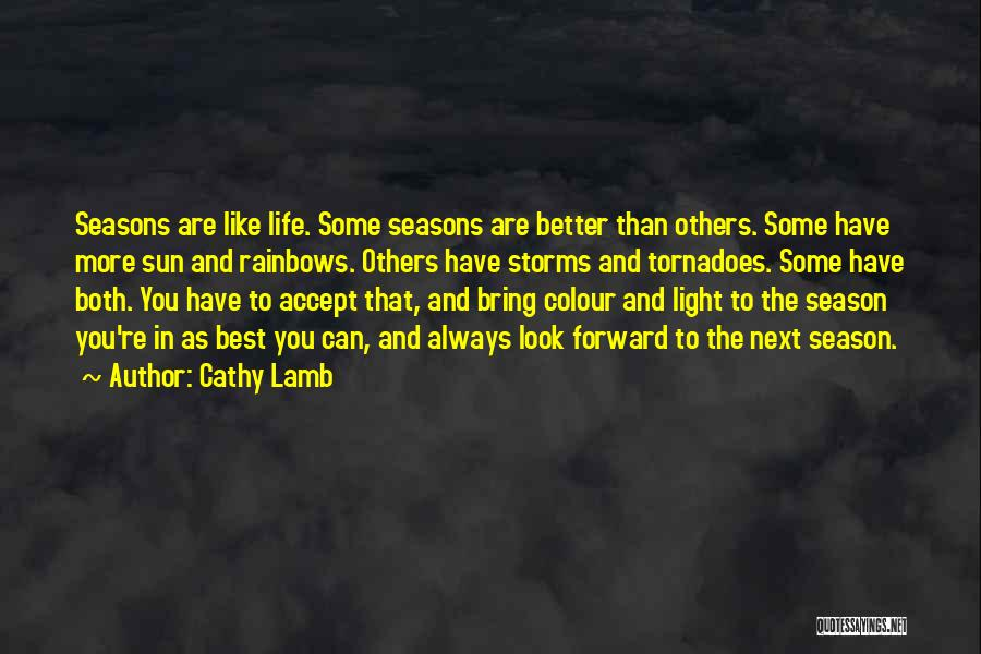 Rainbows Quotes By Cathy Lamb