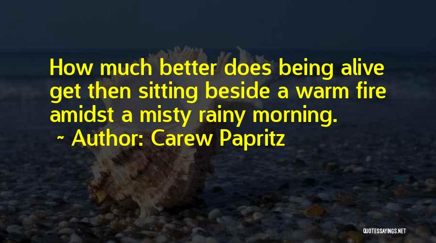 Rainy Morning Quotes By Carew Papritz
