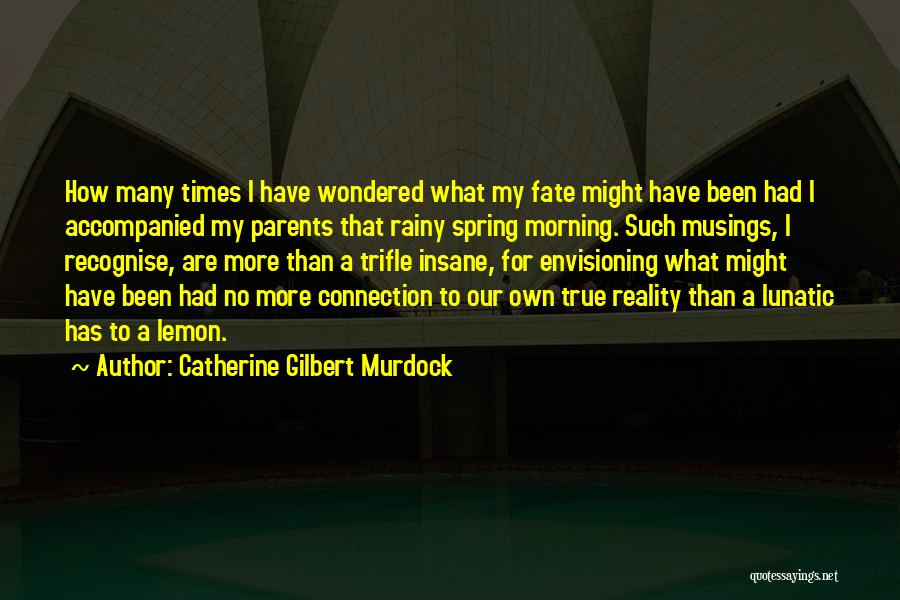 Rainy Morning Quotes By Catherine Gilbert Murdock