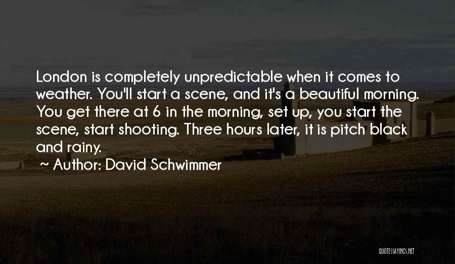 Rainy Morning Quotes By David Schwimmer
