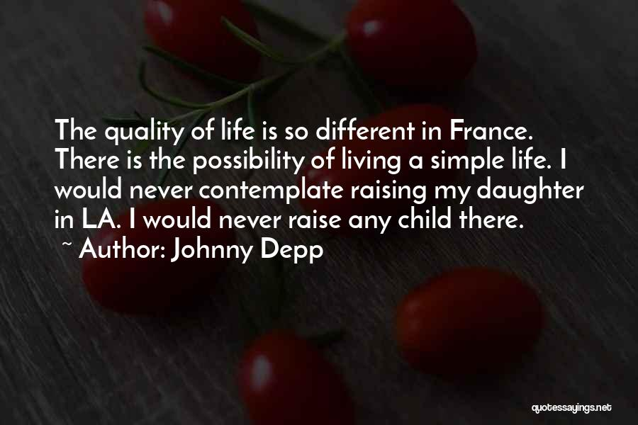 Raising A Child Quotes By Johnny Depp