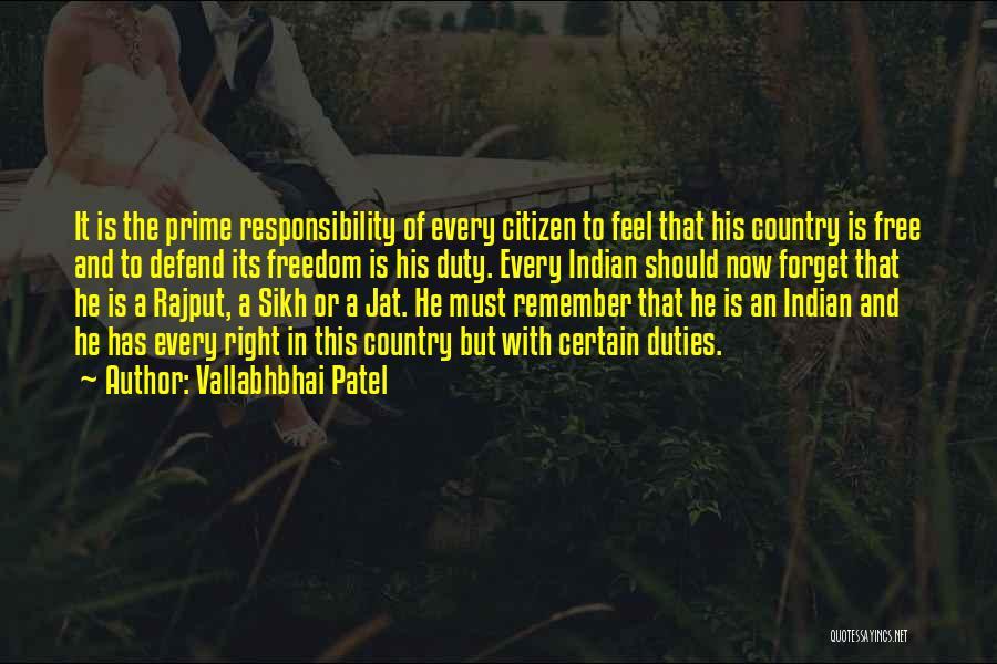 Rajput Best Quotes By Vallabhbhai Patel
