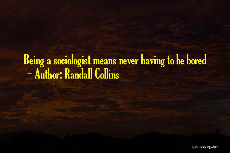 Randall Quotes By Randall Collins