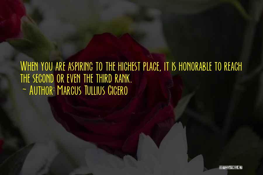 Rank Quotes By Marcus Tullius Cicero