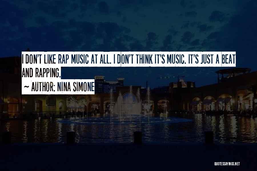 Rap Music Quotes By Nina Simone