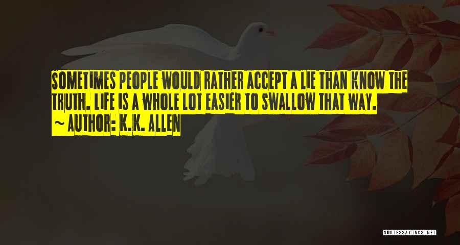 Rather Know The Truth Quotes By K.K. Allen