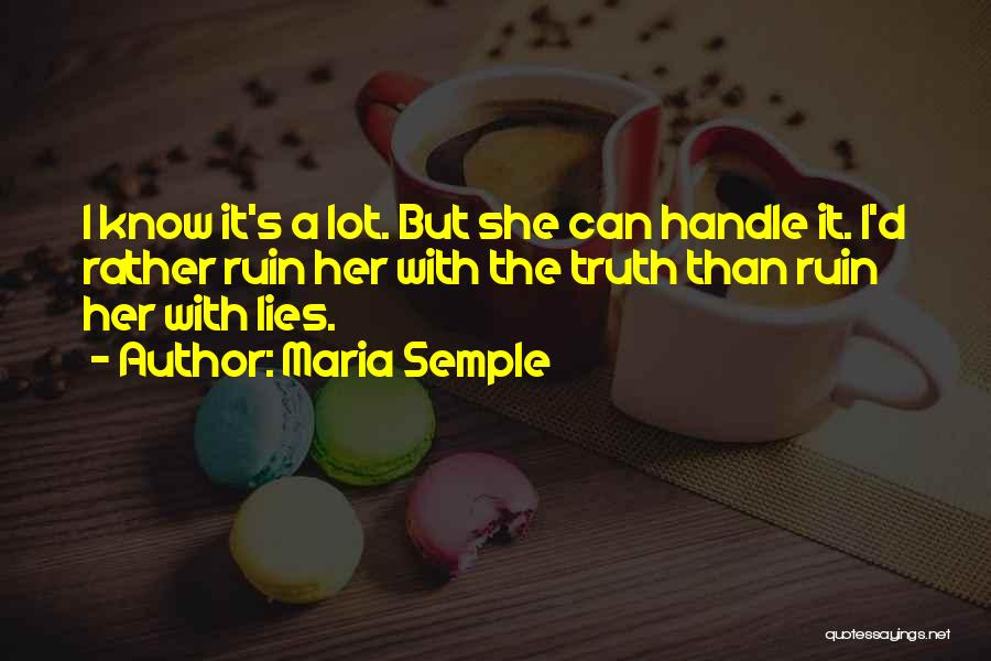 Rather Know The Truth Quotes By Maria Semple