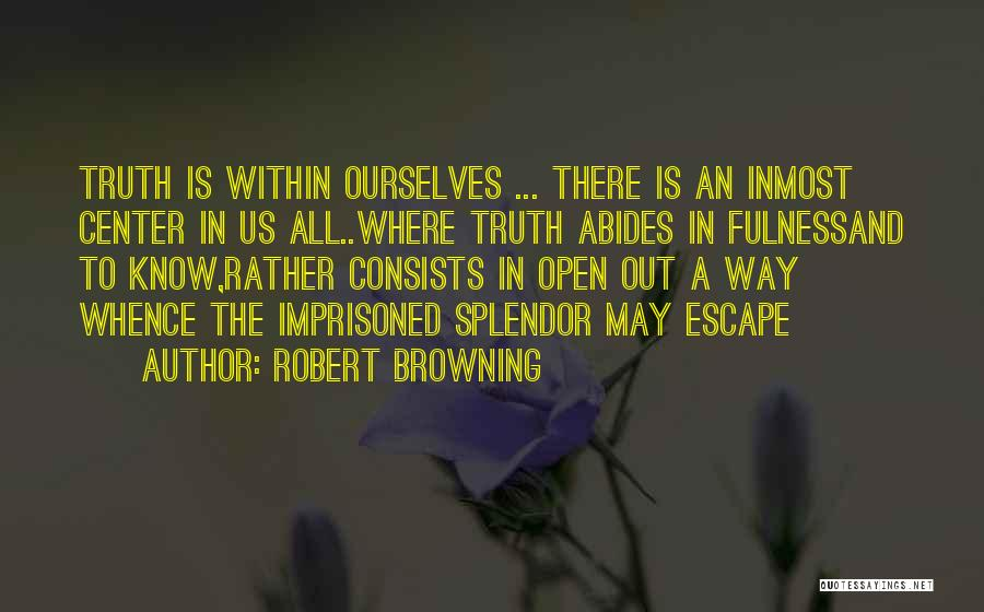 Rather Know The Truth Quotes By Robert Browning