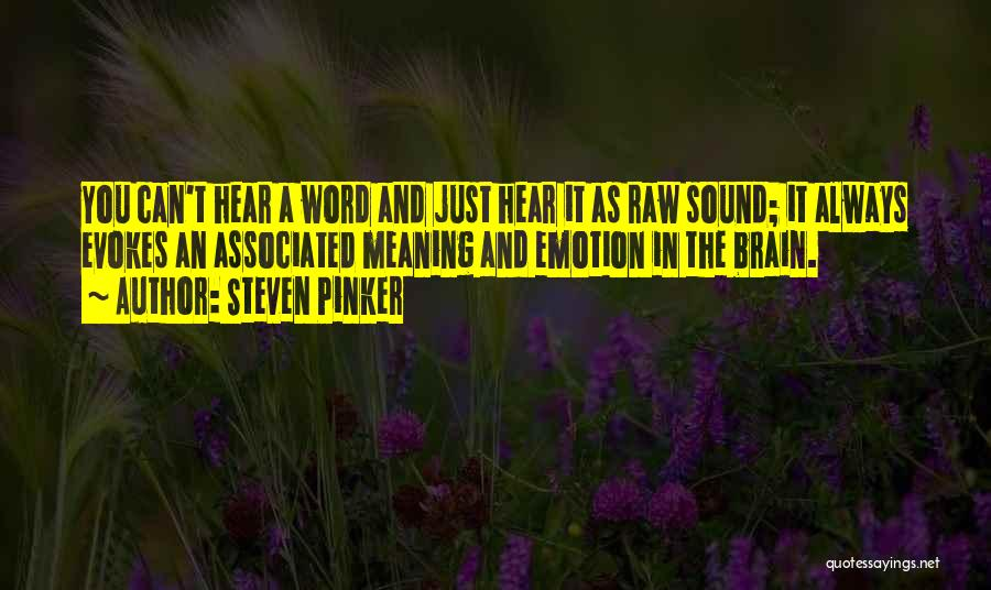 Raw Emotion Quotes By Steven Pinker