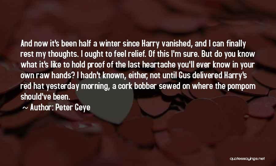Raw Quotes By Peter Geye
