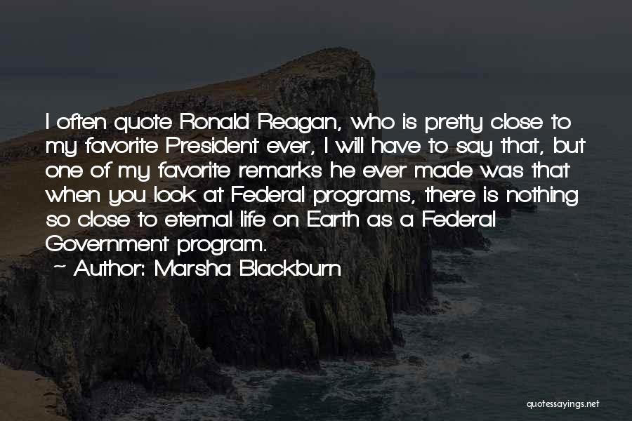 Rd Ronald Quotes By Marsha Blackburn