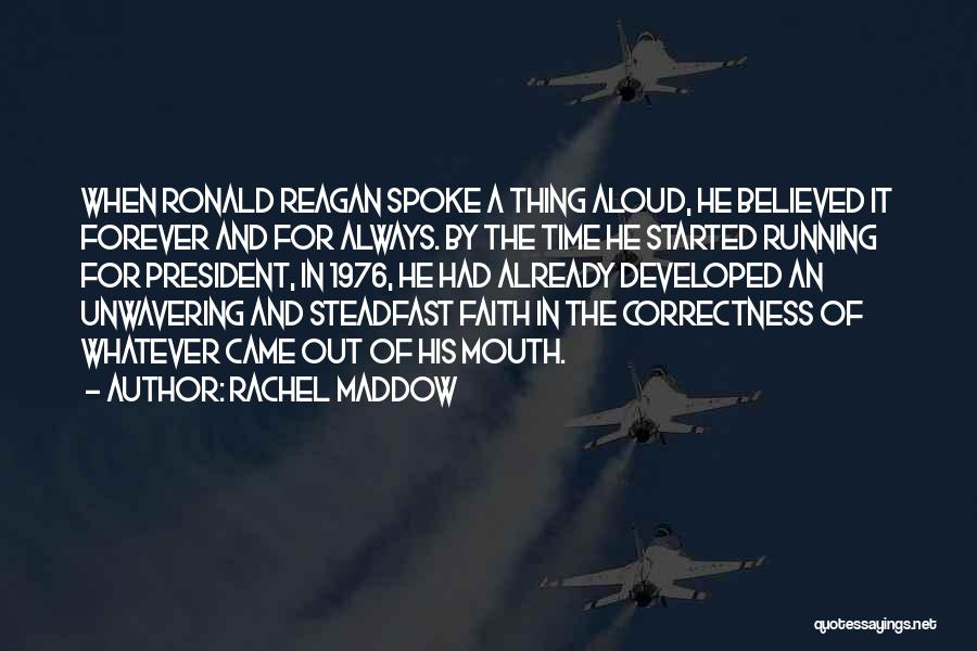 Rd Ronald Quotes By Rachel Maddow