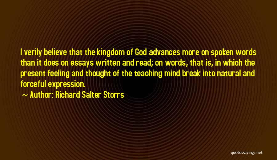 Read More Quotes By Richard Salter Storrs