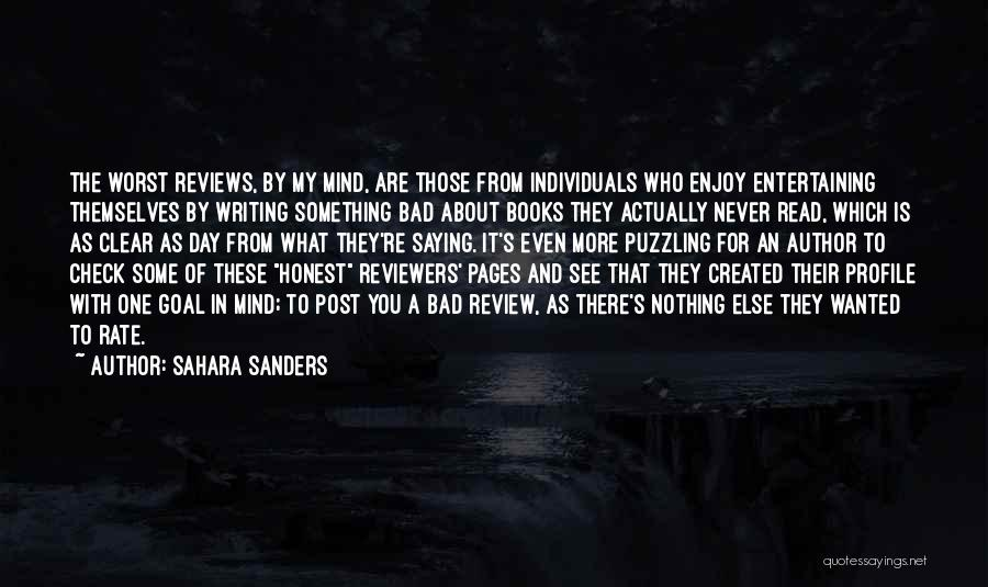 Read More See More Quotes By Sahara Sanders
