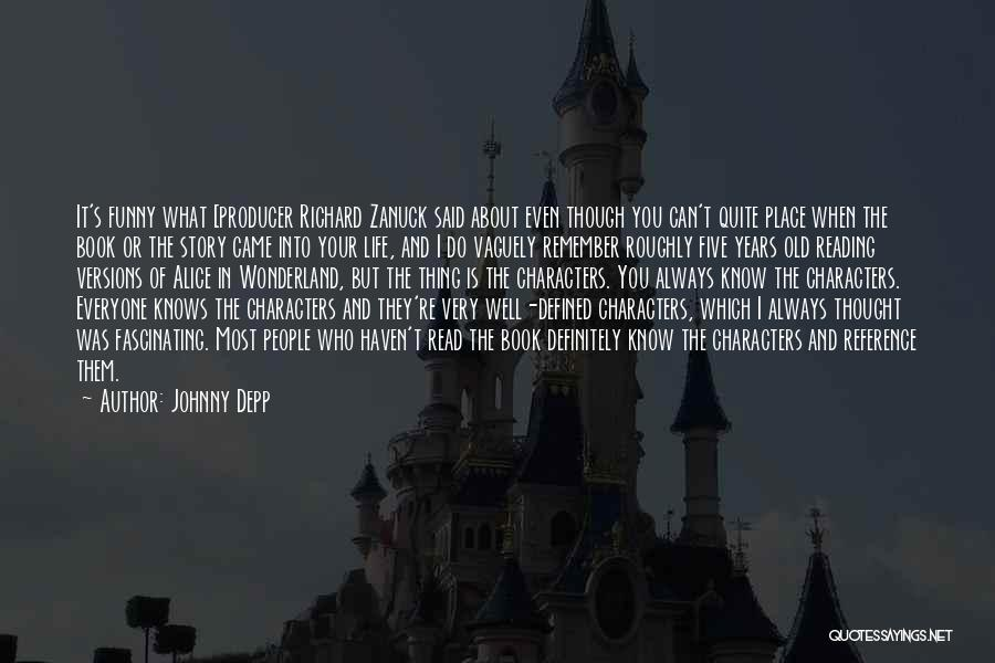 Reading A Book Funny Quotes By Johnny Depp