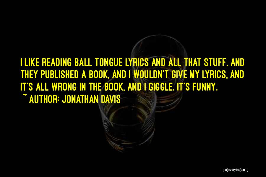 Reading A Book Funny Quotes By Jonathan Davis