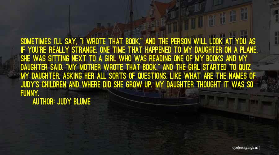 Reading A Book Funny Quotes By Judy Blume