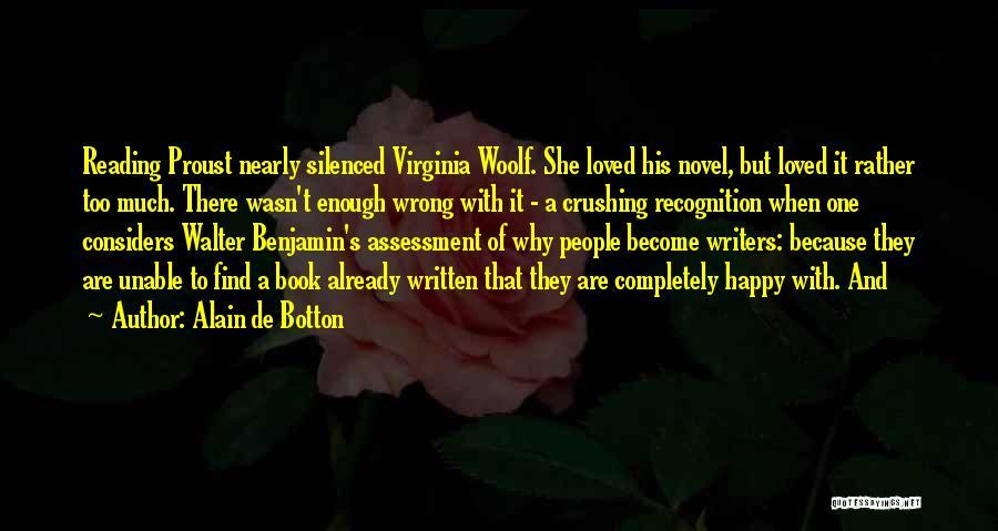 Reading A Novel Quotes By Alain De Botton