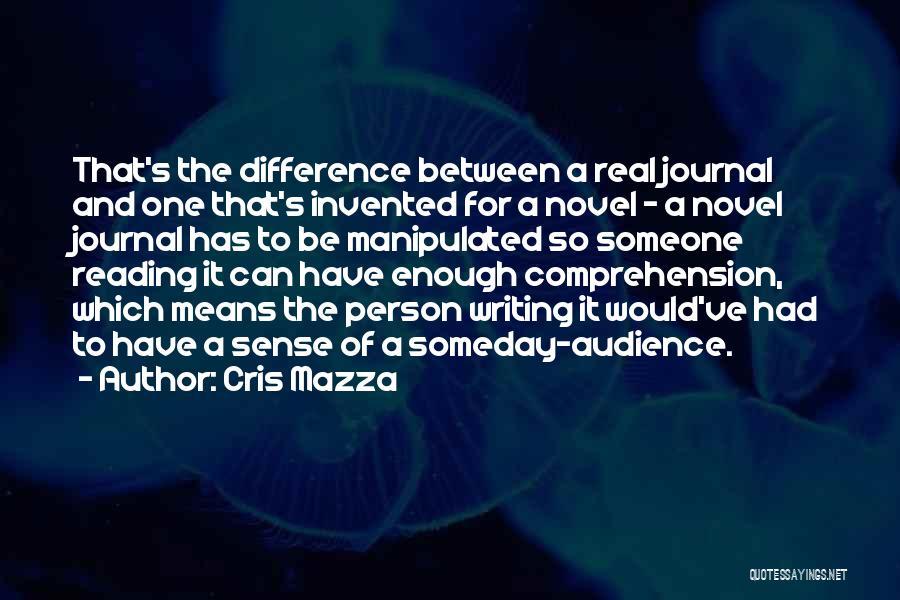 Reading A Novel Quotes By Cris Mazza